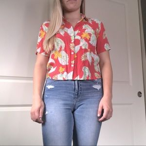 Hawaiian Floral Crop Top